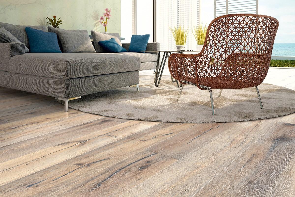 Pardoseala din parchet din lemn masiv pentru sufragerie