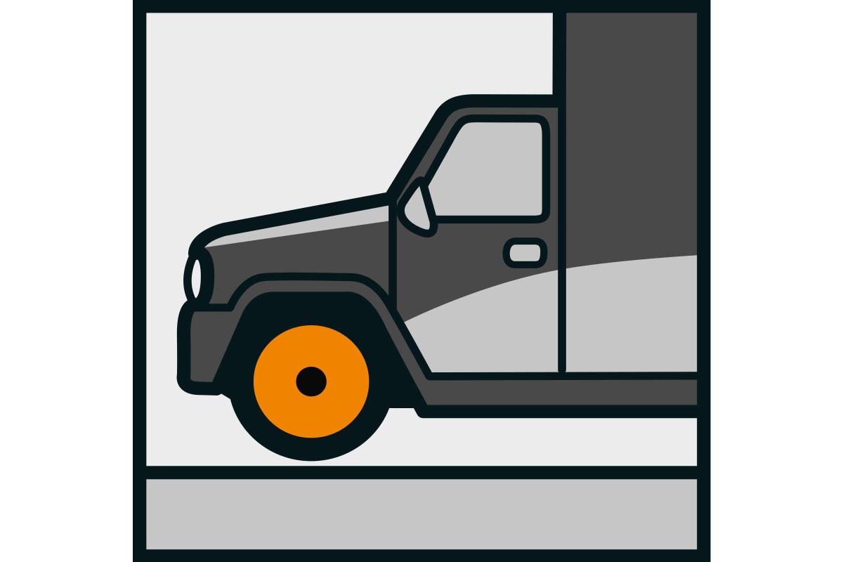 Simbol trafic camioane placi ceramice