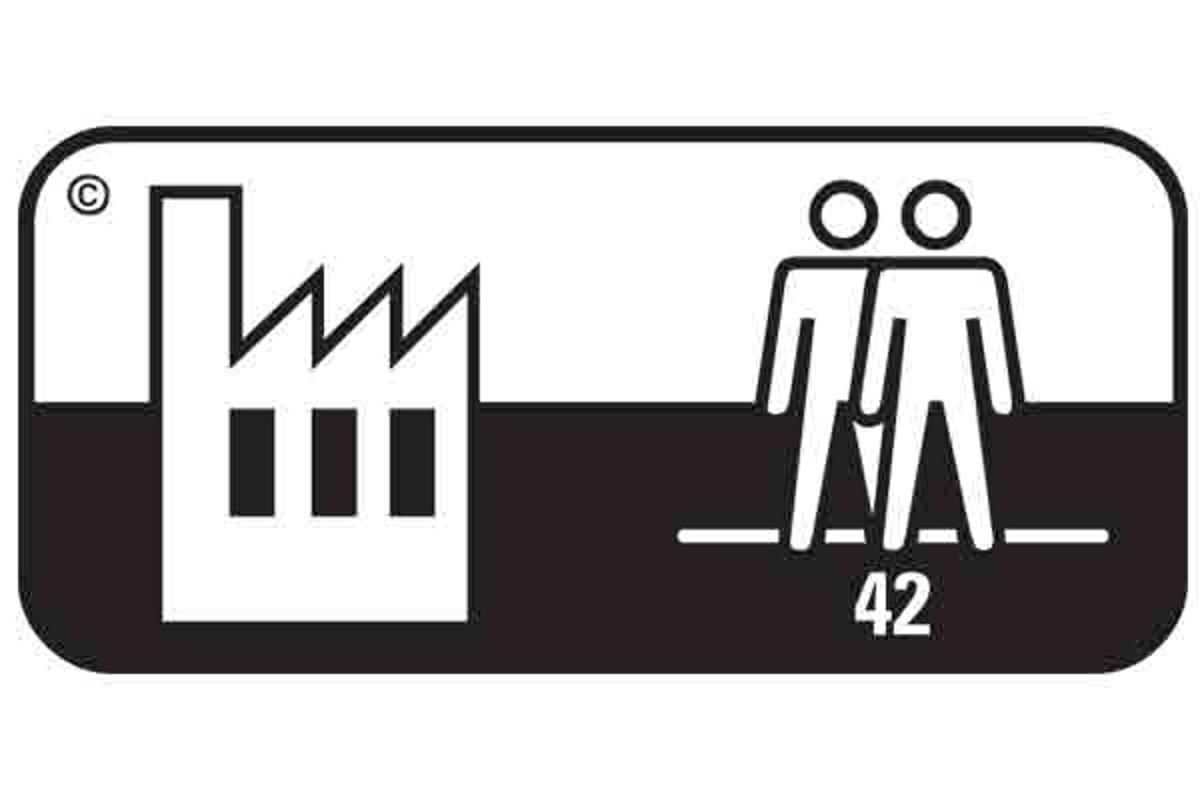 Simbol pardoseala clasa 42