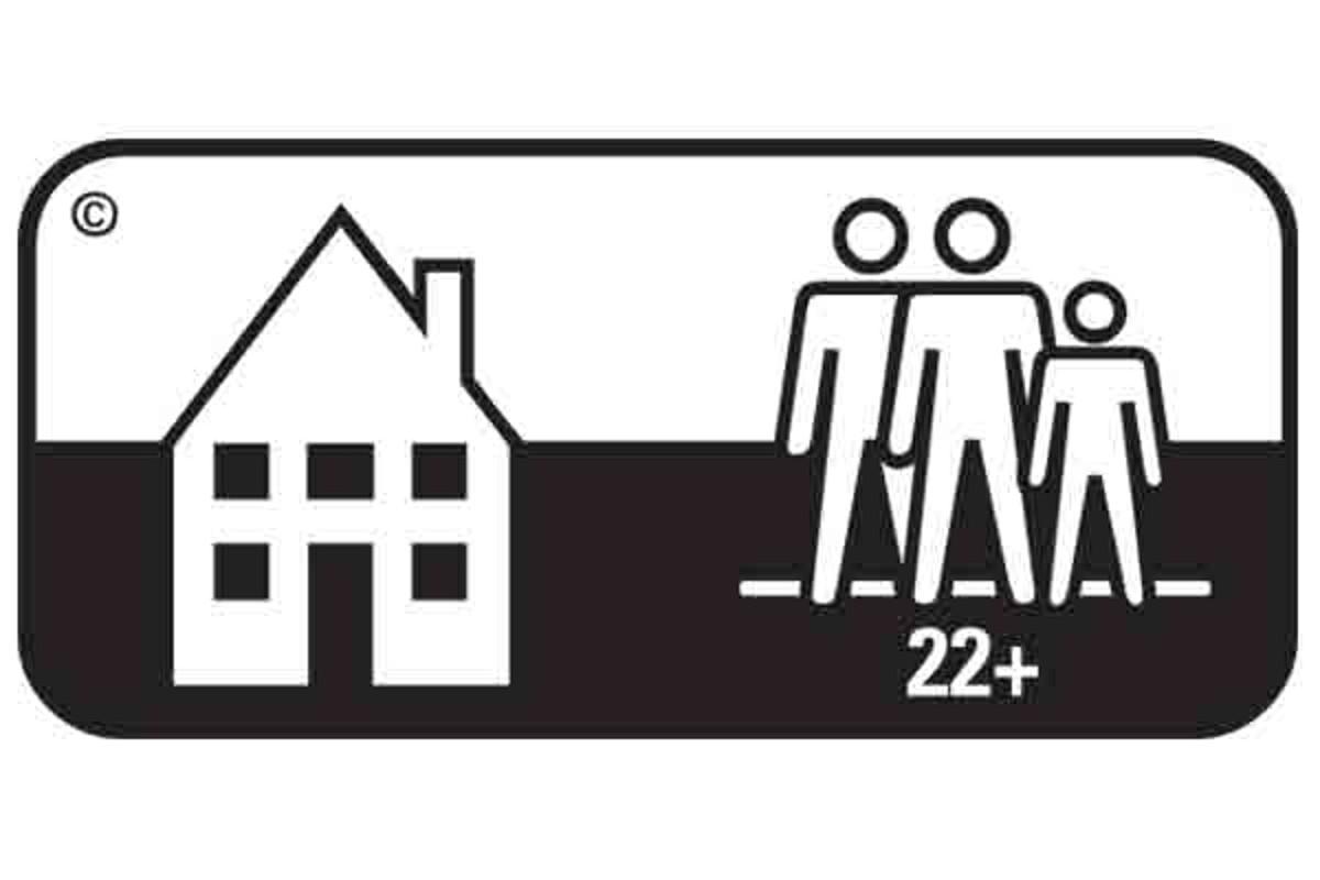Simbol pardoseala clasa 22+