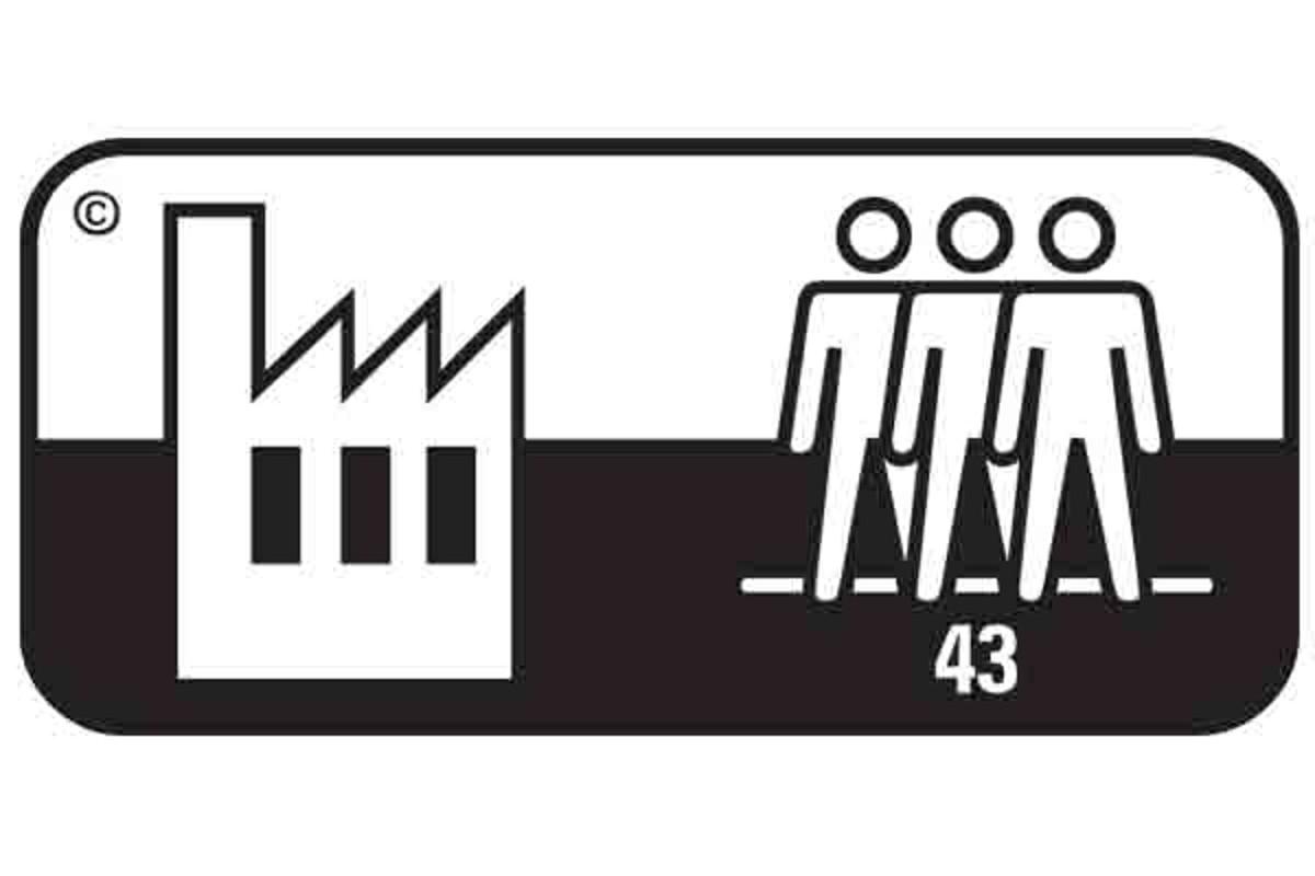 Simbol pardoseala clasa 43