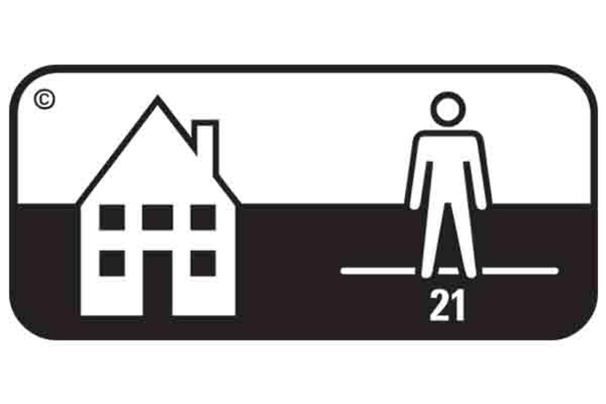 Simbol pardoseala clasa 21