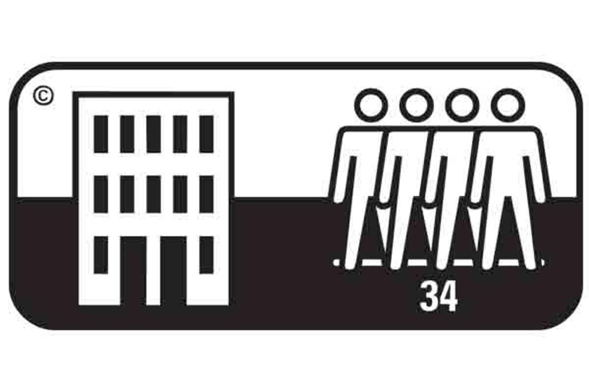 Simbol pardoseala clasa 34