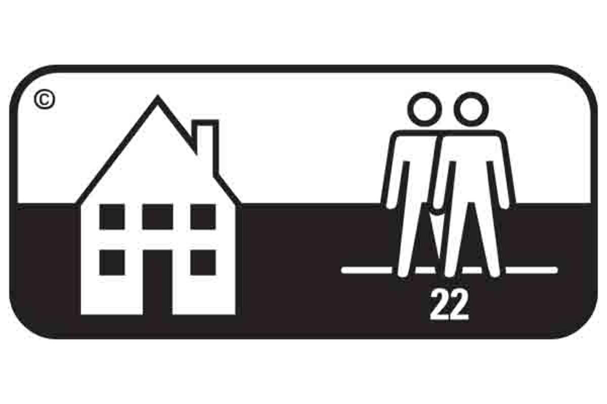 Simbol pardoseala clasa 22