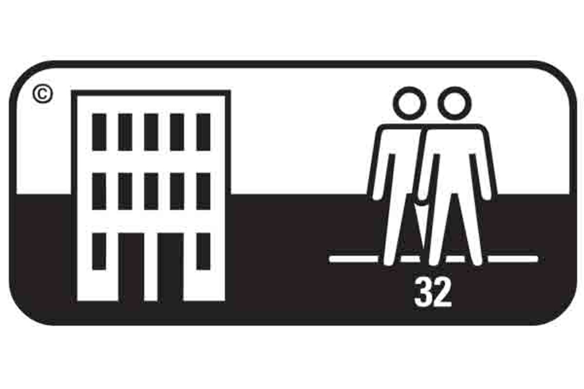 Simbol pardoseala clasa 32