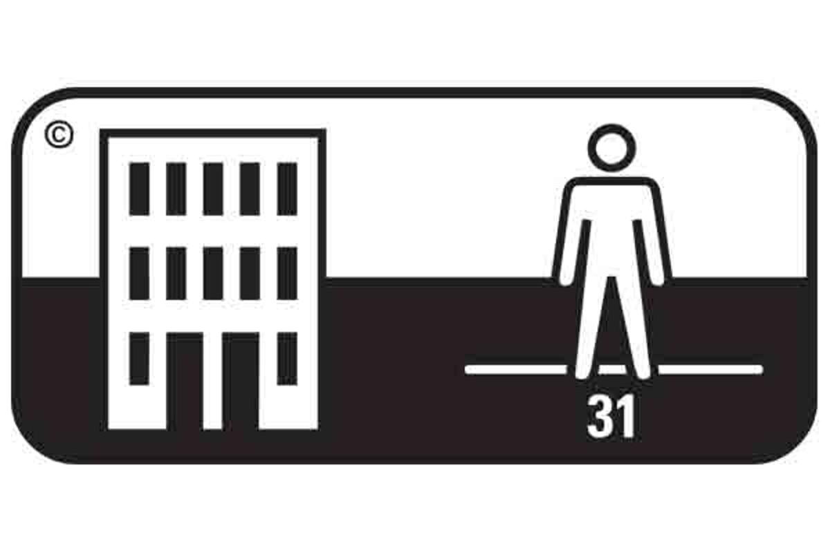 Simbol pardoseala clasa 31