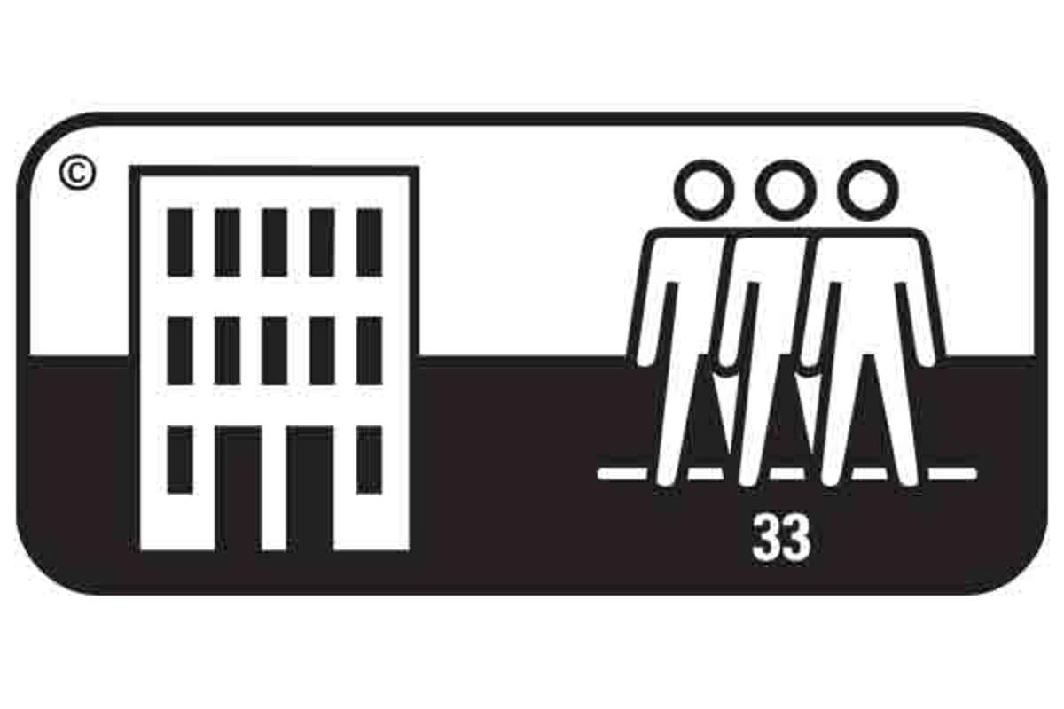 Simbol pardoseala clasa 33