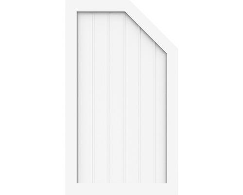 Element de extremitate BasicLine tip M stânga 70 x 120/90 cm, alb