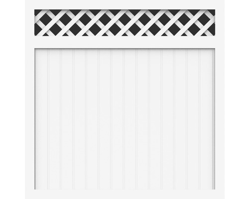 Element principal BasicLine tip O 150 x 150 cm, alb