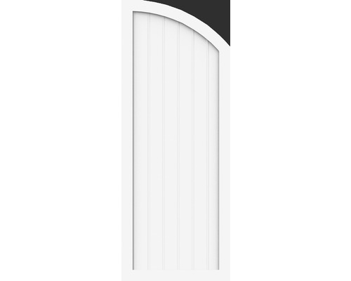 Element de extremitate BasicLine tip H stanga 70 x 180/150 cm, alb