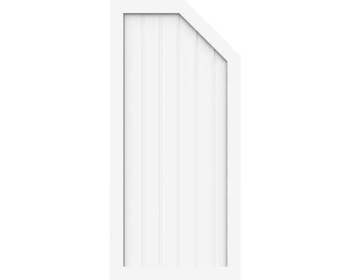 Element de extremitate Basic Line tip L dreapta 70 x 150/120 cm, alb