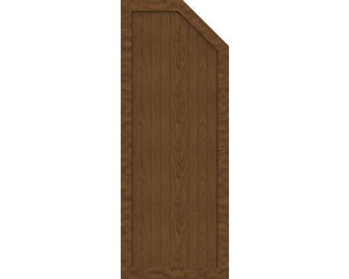Element de extremitate BasicLine tip E dreapta 70 x 180/150 cm, Golden Oak