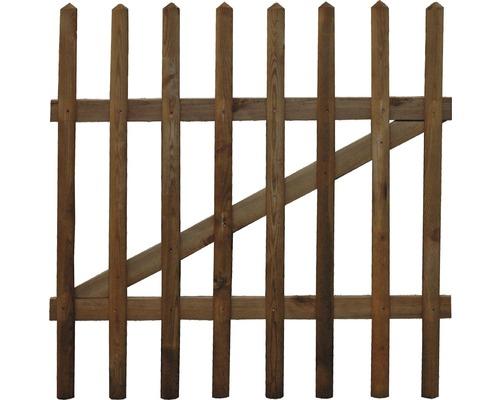 Poarta verticala din sipci, 100x79 cm, impregnata in autoclava