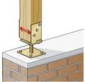 Suport zincat reglabil tip U 71->131x110x70 mm pentru stalpi lemn