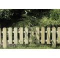 Element gard, pentru montaj, 120x30/45 cm, lemn verzui