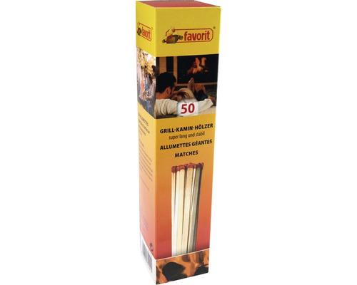 Chibrituri Favorit pentru semineu/gratar, L 20 cm, pachet 50 buc.