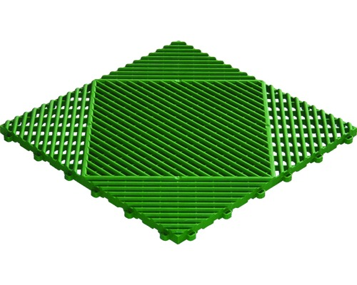 Dală din plastic, sistem click, 40 x 40 cm, verde