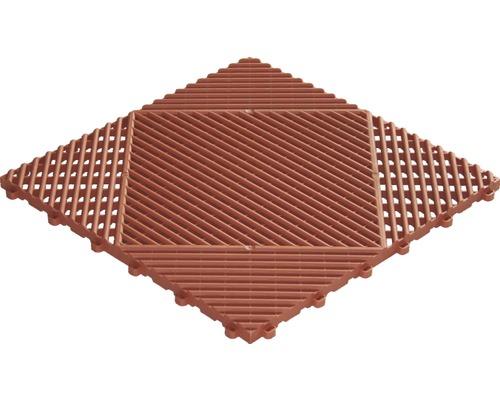 Dala din plastic, sistem click, 40 x 40 cm, maro