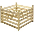 Compostor de lemn cu stâlp de colț, 100x100x70 cm