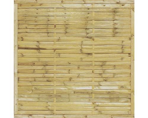 Gard din lamele, solid, 180x180 cm, impregnat in autoclava