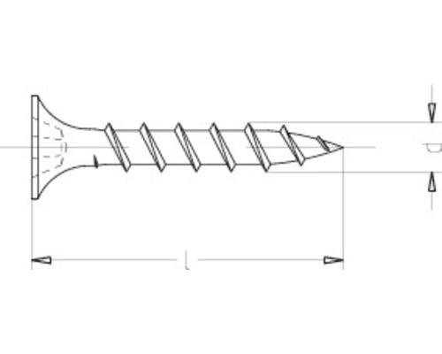 Suruburi autofiletante profile lemn gipscarton Dresselhaus 3,9x45 mm otel fosfatat, 250 bucati