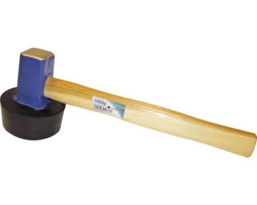 Ciocan cauciuc pentru dale & pavaje Haromac 1,5kg, profil rotund, coada din lemn