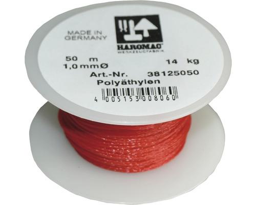 Sfoara pentru zidarie Haromac Ø1mm x 50m, polietilena rosie
