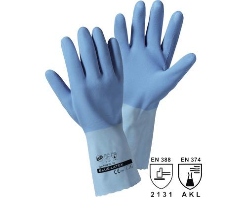 Manusi de protectie Leipold+Döhle din latex albastru, marimea 10