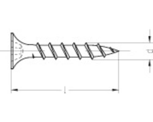 Suruburi autofiletante pentru gipscarton armat cu fibre Dresselhaus 3,9x30 mm otel fosfatat, 1000 bucati