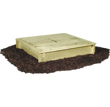Cutie de nisip lemn cu capac, 120x120x28 cm, impregnată în autoclavă