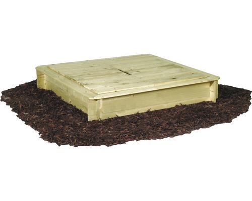 Cutie de nisip lemn cu capac, 120x120x28 cm, impregnata in autoclava