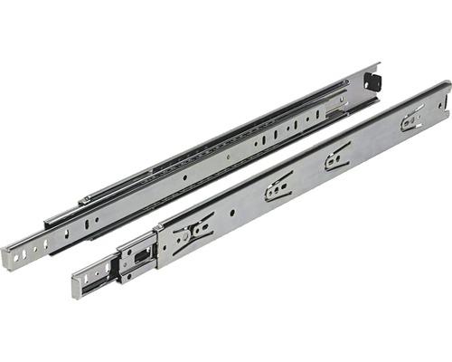 Glisiere tip sina cu bile Hettich KA5632 500mm, max. 45kg, otel cromat, 1 pereche