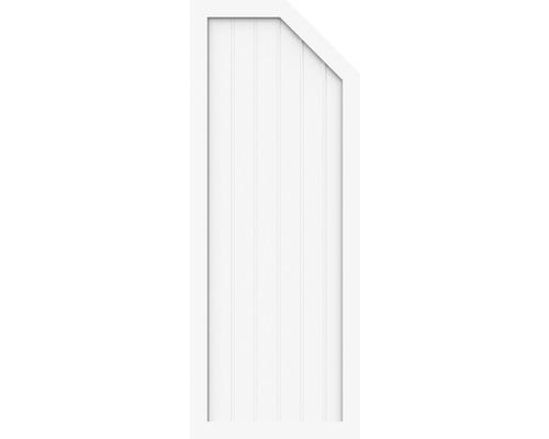 Element de extremitate BasicLine tip E dreapta 70 x 180/150 cm, alb