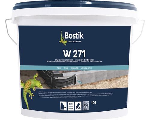 Membrana lichida hidroizolatoare Bostik W271 pe baza de bitum pentru fundatii si subsoluri 10 litri