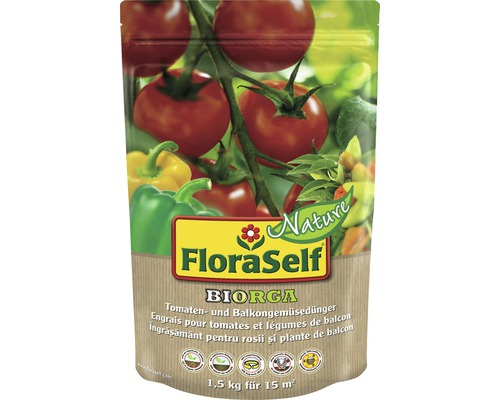 FloraSelf Nature® BIORGA ingrasamant pentru rosii si legume de balcon 1,5 kg