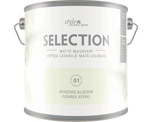 Vopsea lavabila premium StyleColor SELECTION nuanta 01 Floarea Atenei 2,5 l