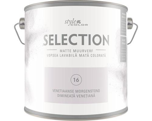 Vopsea lavabila premium StyleColor SELECTION nuanta 16 Dimineata venetiana 2,5 l