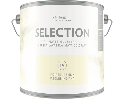 Vopsea lavabila premium StyleColor SELECTION nuanta 19 Iasomie indiana 2,5 l