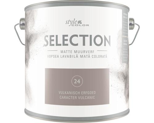 Vopsea lavabila premium StyleColor SELECTION nuanta 24 Caracter vulcanic 2,5 l