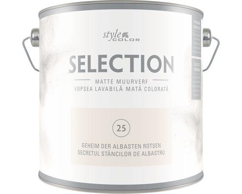 Vopsea lavabila premium StyleColor SELECTION nuanta 25 Secretul stancilor de alabastru 2,5 l