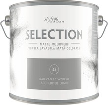 Vopsea lavabilă premium StyleColor SELECTION nuanța 33 Acoperișul lumii 2,5 l
