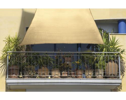 Copertină pentru balcon bej 140x270 cm