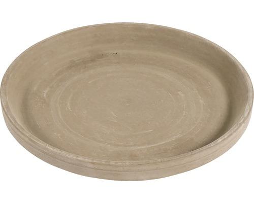 Farfurie ghiveci XLU, argila, Ø 13,1 h 1,9 cm, umbra
