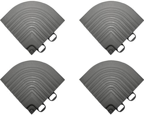 Element de colt pentru pavaj click 6,2x6,2 cm 4 bucati, gri inchis