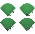 Element de colt pentru pavaj click 6,2x6,2 cm 4 bucati, verde