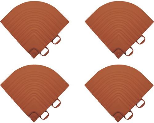 Element de colt pentru pavaj click 6,2x6,2 cm 4 bucati, teracota