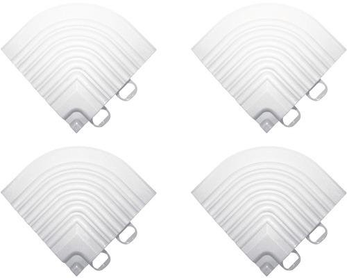 Element de colt pentru pavaj click 6,2x6,2 cm 4 bucati, alb
