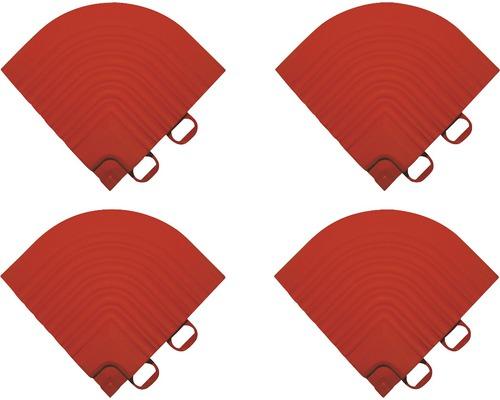Element de colt pentru pavaj click 6,2x6,2 cm 4 bucati, rosu