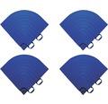 Element de colt pentru pavaj click 1,8x6,2 cm 4 bucati, albastru