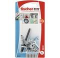 Dibluri plastic autoforante cu surub Fischer GK-S 4,5x35 mm, pachet 5 bucati, pentru gipscarton, incl. unealta de montaj